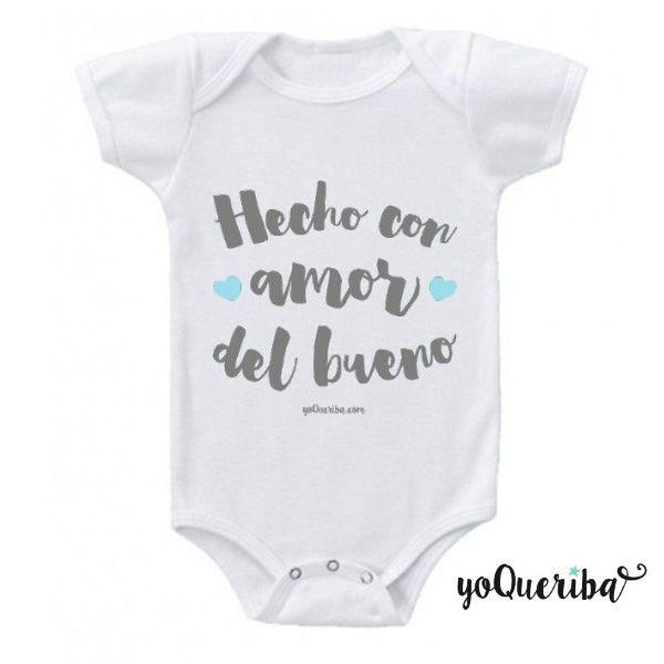 Hecha CON AMOR Bordado T-shirt regalo personalizado de Bebé Baby Shower