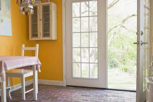 French doors add a classic appearance to a simple room.