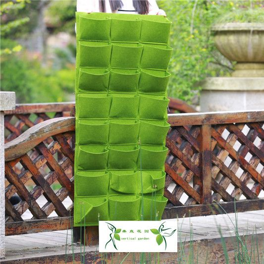 2015 New Waterproof Planting Bag Living Wall Planter Vertical Herb Garden  Hanging Flower Pot Grow Bags