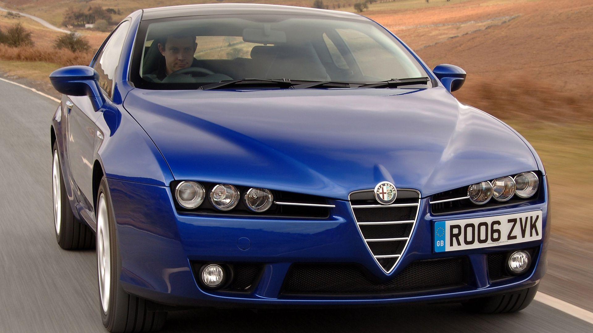 Alfa romeo brera in blue cool shot for your desktop