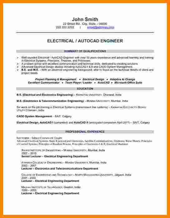 11+ cv template for electrical engineer theorynpractice