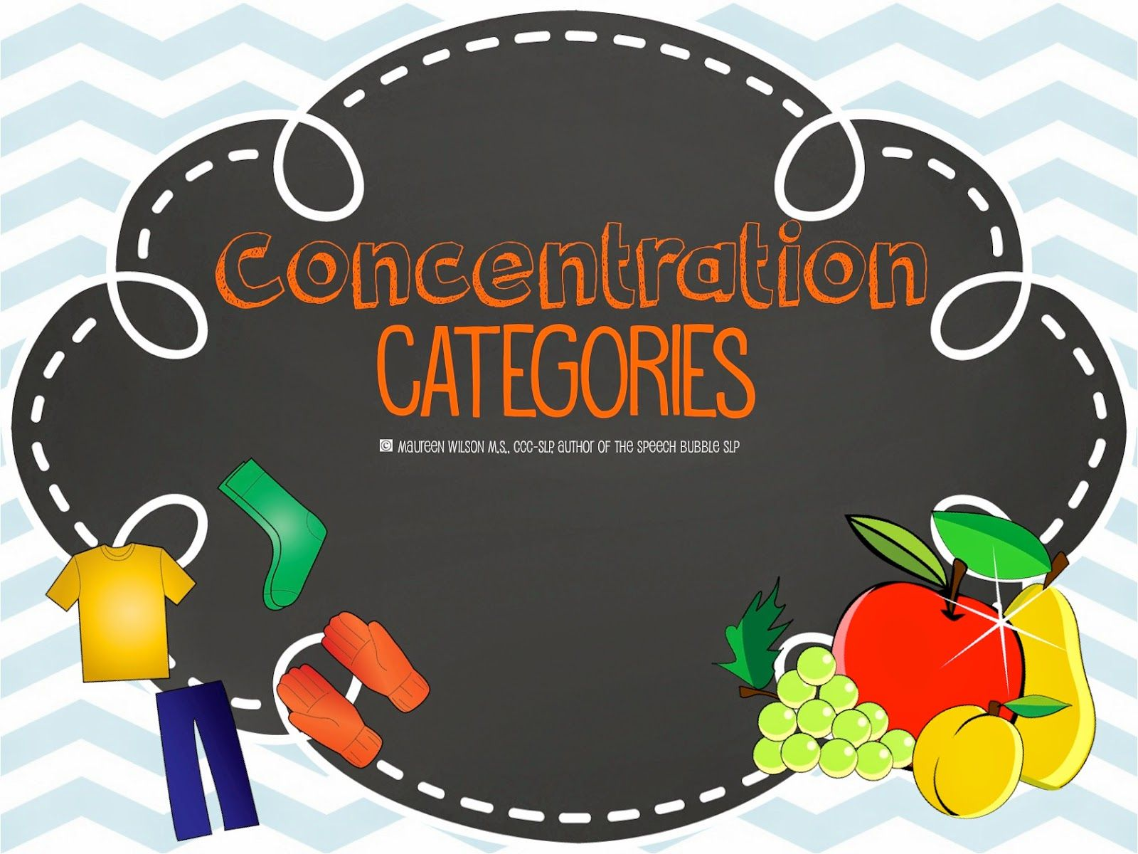 Speechie Freebies Concentration Categories Pinned By Sos