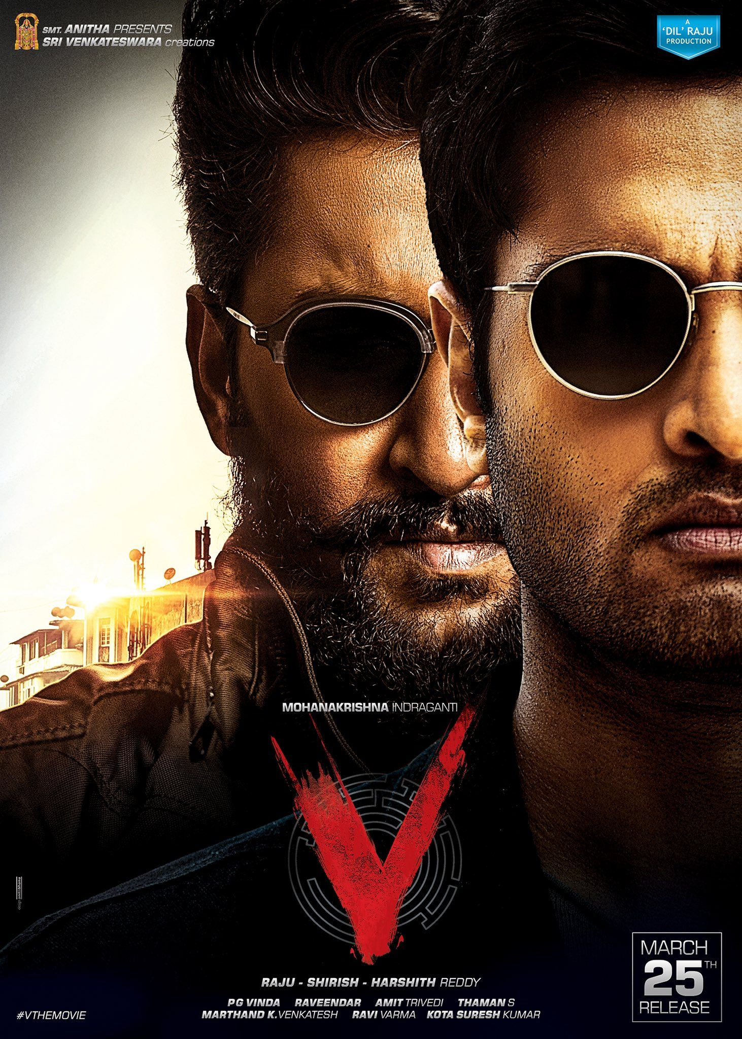 Nani first look poster and stills from v the movie in