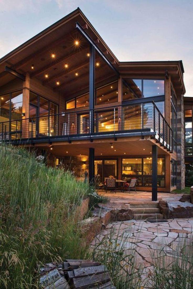 Contemporary Exterior Design With Honed Bluestone Flooring: 35 Popular Contemporary Home Design Exterior