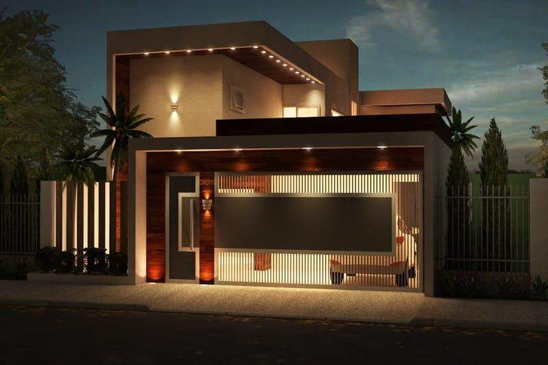 Projeto de sobrado com terra o projetos prontos - Fachadas para terrazas ...
