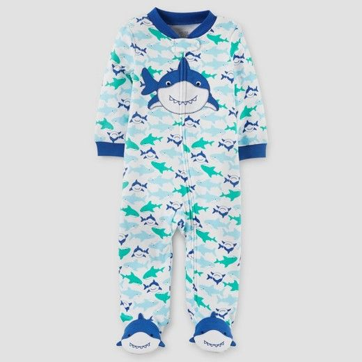4a4c09bc3 This Just One You Made by Carter s Baby Boys  Shark Cotton Sleep N ...