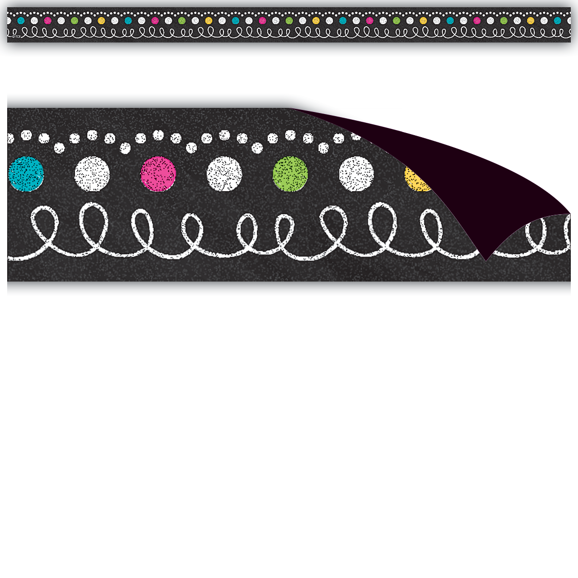 Chalkboard Brights Magnetic Strips Magnetic Strip Classroom Decorations Chalkboard