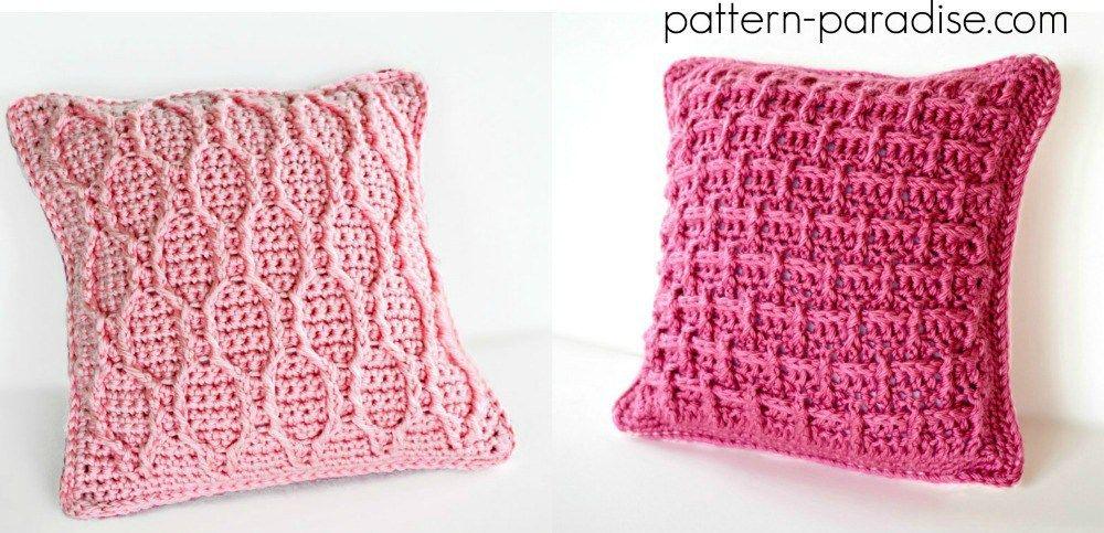 Free Crochet Pattern: Pretty In Pink Pillow | Handarbeiten ...