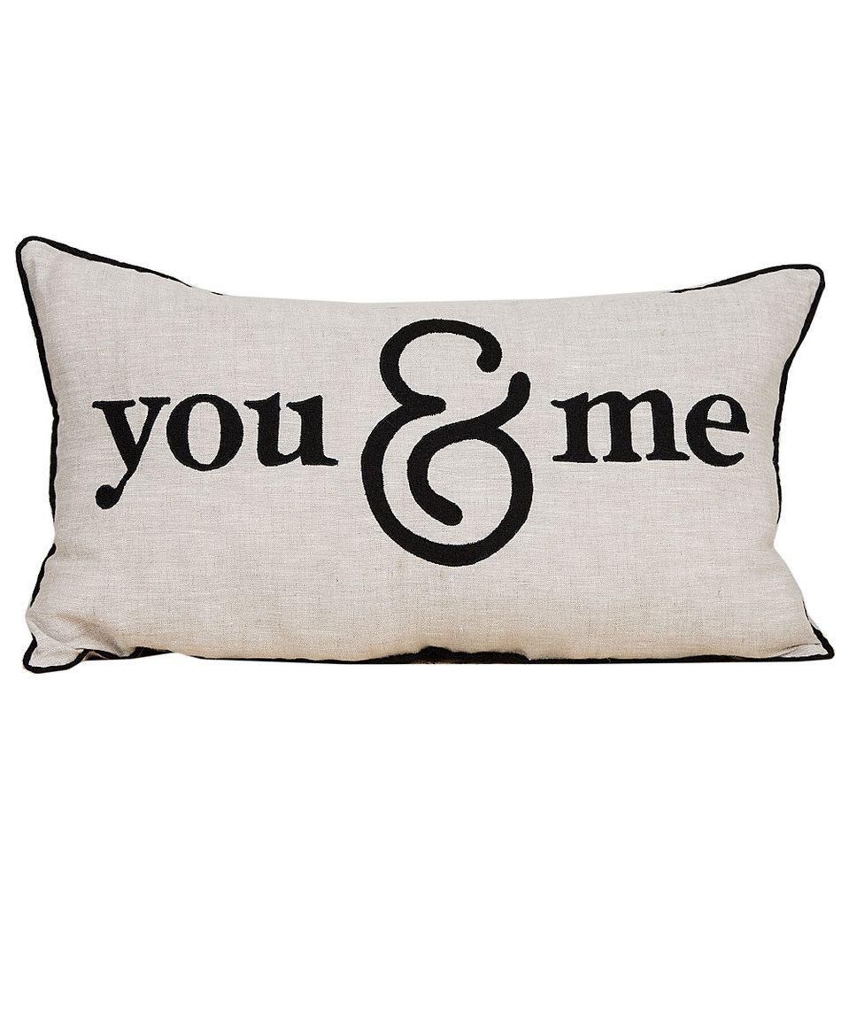 Look at this #zulilyfind! 'You & Me' Throw Pillow by Glory Haus #zulilyfinds