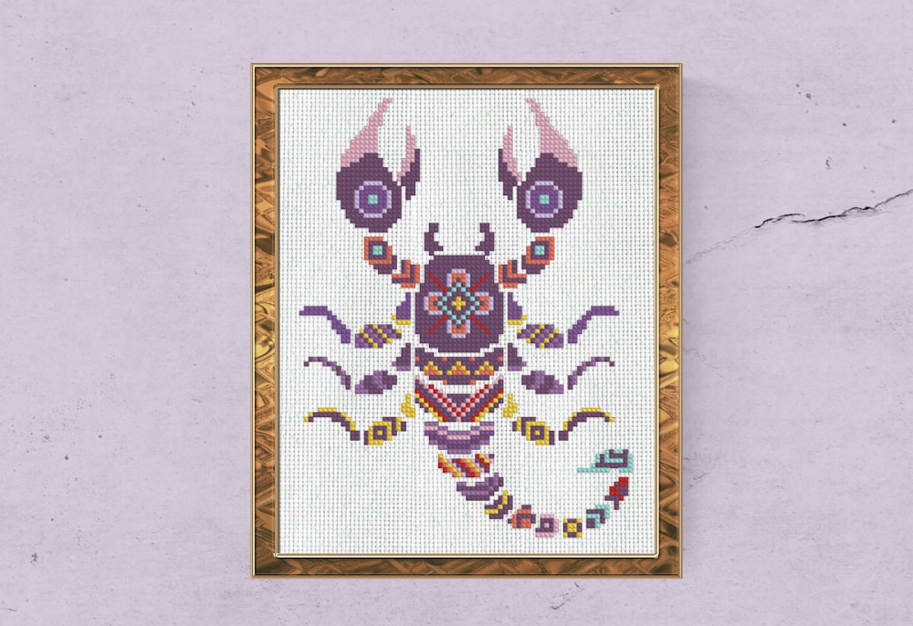 Star Sign,Instant Download,PDF patterns only Pisces,Zodiac signs,Counted cross stitch Pattern,Astrology,Stars,Horoscope,Symbol