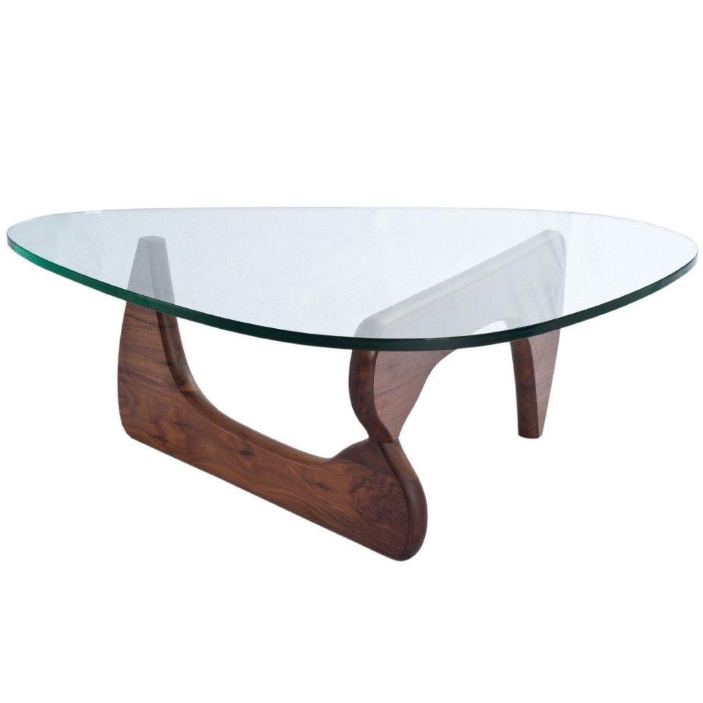 Table Basse Noguchi En Verre Noyer Meuble Wazo Diy