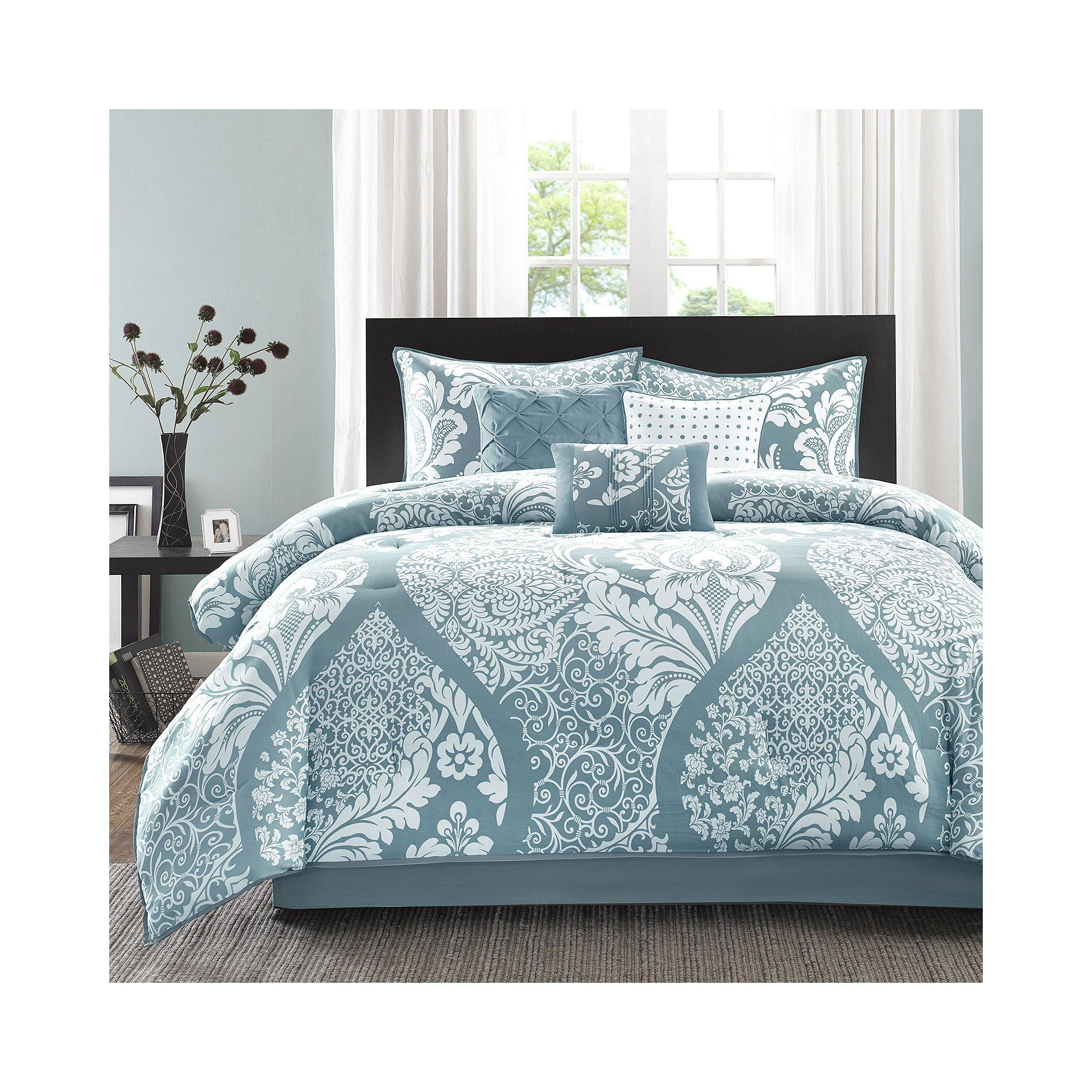 Madison Park Vienna 200TC 7 Piece Cotton Printed Comforter