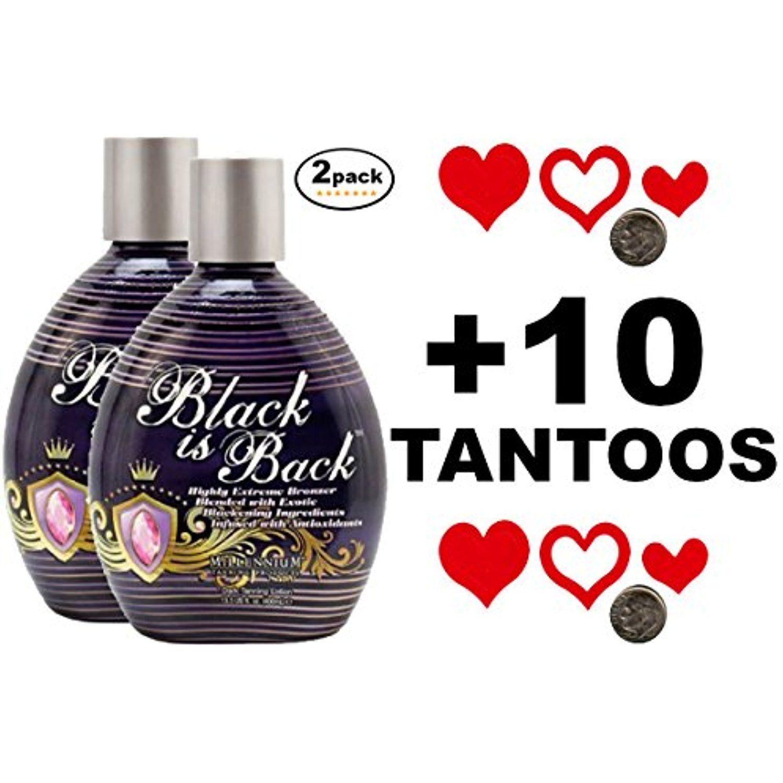 Millenium Tanning BLACK IS BACK BRONZER Tanning Lotion 13