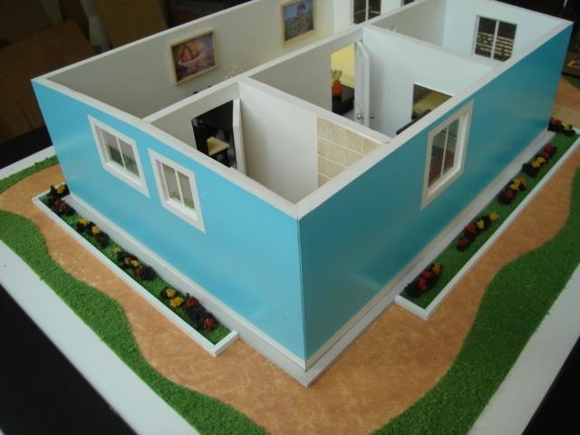 Am maquetas arquitect nicas miniaturas pinterest - Como hacer una maqueta de una casa ...