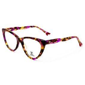 497836886a3e7 Armação Oculos Chanel Grau Importado Feminino Ch11 Original ...