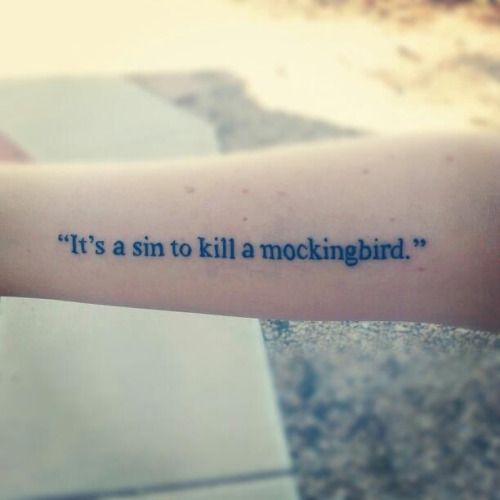 fuckyeahtattoos:  Done at No Regrets in Tempe, Arizona by Eric Van Dyk To Kill a Mockingbird holds a really special place in my heart.