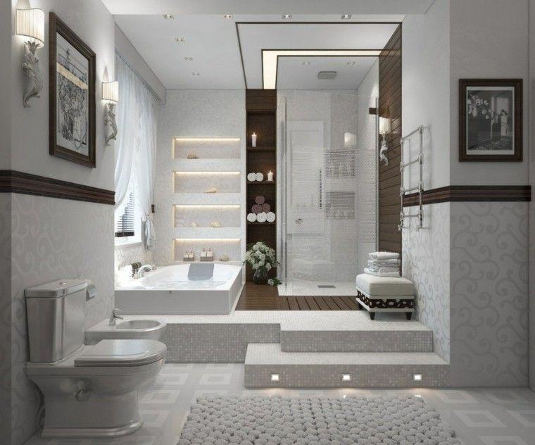 baño moderno de estilo lujoso Casa Pinterest Baño moderno - baos lujosos