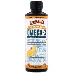 Barlean S Seriously Delicious Omega 3 Fish Oil Mango Peach Smoothie 16 Oz 454 G Iherb Peach Smoothies Peach Mango Fish Oil