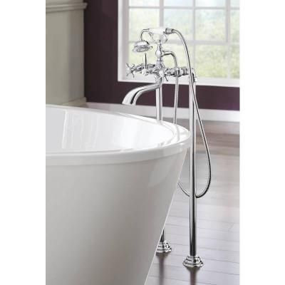 Moen Weymouth 2 Handle Wall Mount Roman Tub Filler Trim Kit In Chrome Valve Not Included S22105 Wall Mount Tub Faucet Freestanding Tub Filler Tub