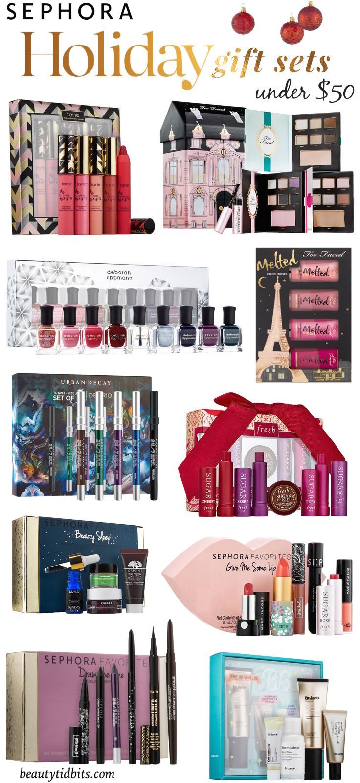 Best Sephora Holiday Gift Sets Under $50 | 50th, Holidays and Gift