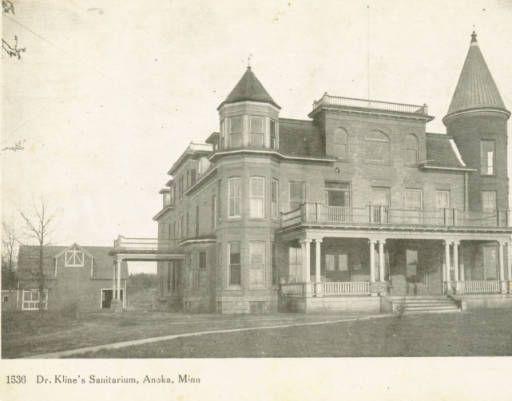 Dr Kline S Sanitarium Anoka Minnesota County Historical Society Located On