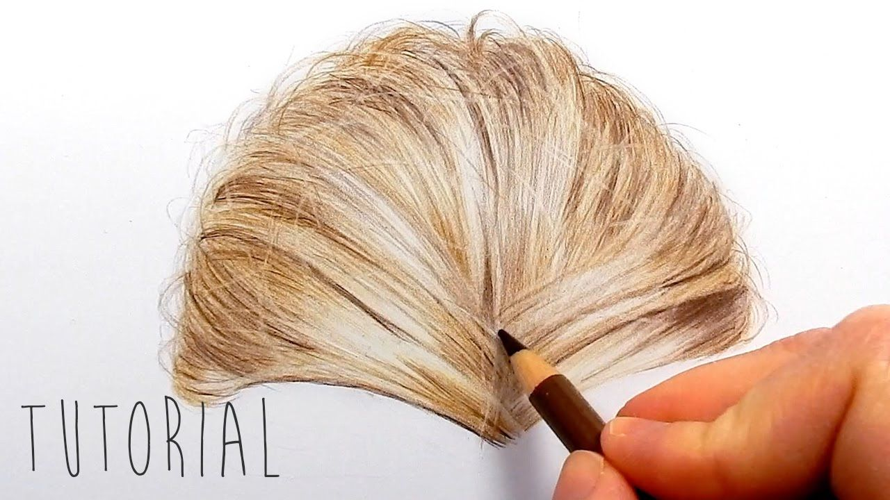 Tutorial How To Draw Realistic Blonde Hair With Colored Pencils Emmy Realistic Drawings Color Pencil Drawing Pencil Portrait