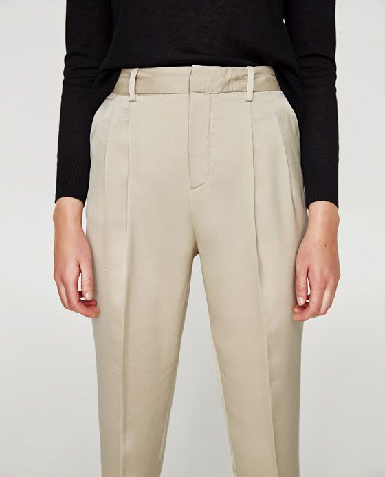 3e869694 Image 5 of HIGH RISE TROUSERS WITH DARTS from Zara   young queer ...