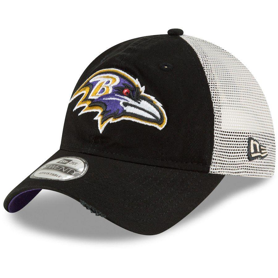 135b39ab Men's Baltimore Ravens New Era Black Stated Back Trucker 9TWENTY ...