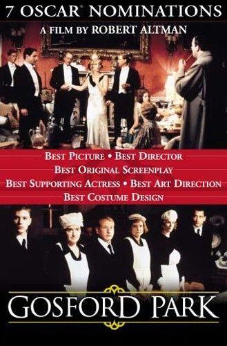 Gosford Park 2001 Film English Movies Movies And Tv Shows