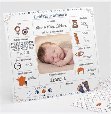 Faire-part naissance Jolis pictogrammes