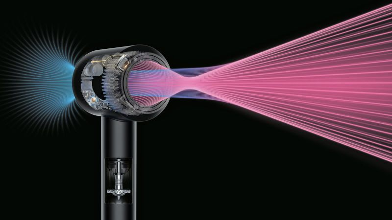 Dyson Redesigned The Hair Dryer So It S Easier And Safer To Use Hair Dryer Dyson White Silver