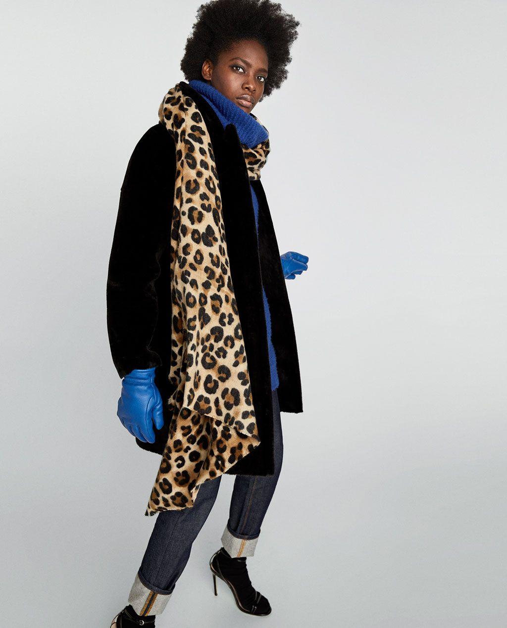 45737395e83a2c PAÑUELO ESTAMPADO ANIMAL   passionforfashion   Animal print scarf ...