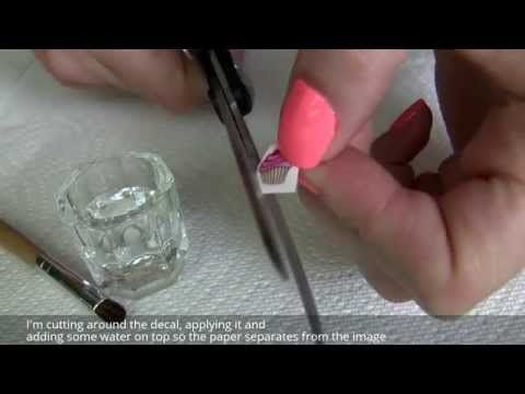 How To Apply Water Nail Decals Stickers Over Gelish Gel