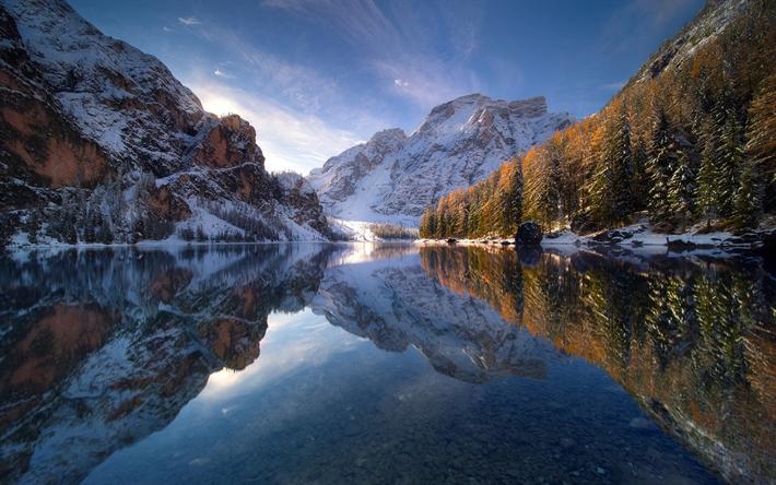 Fondo De Pantalla Paisaje Montañas Nevada: Descargar Fondos De Pantalla Lago De Montaña, Invierno