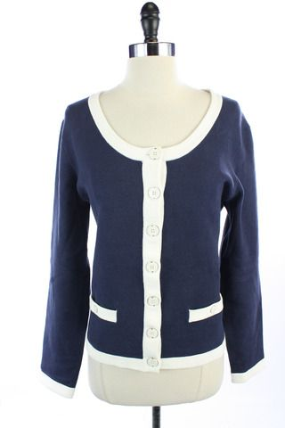 Recycle Your Fashions BANANA REPUBLIC Navy Blue White Button Down ...