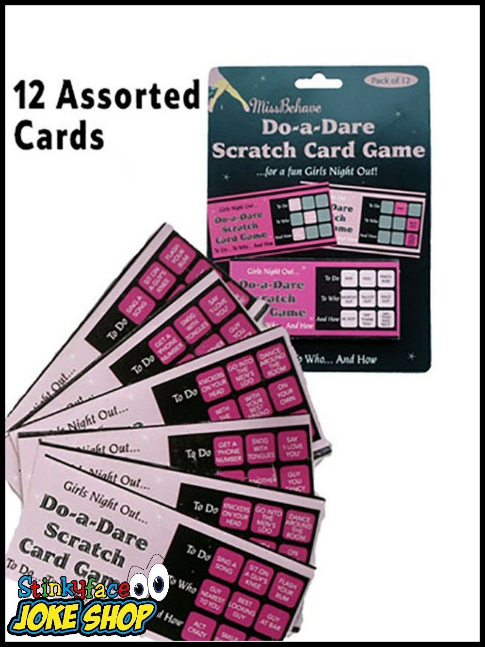 12 Hen Do Party Bride-To-Be Girls Night Out Dare Scratch Cards