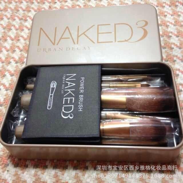 Cheap 12 profesionales nake3 maquillaje maquillaje cepillo conjunto portátiles herramientas de belleza maquillaje, Compro Calidad Sets de Maquillaje directamente de los surtidores de China: