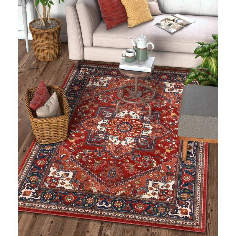 Tulsa Jackie Medallion Red Area Rug With Images Red Area Rug Morrocan Decor Well Woven