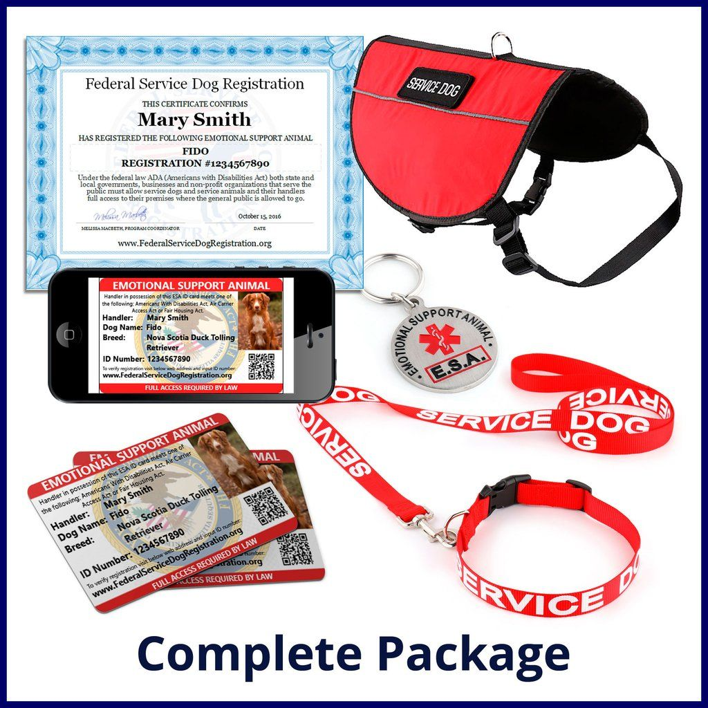 Emotional Support Animal Complete Package Bundle And Save 84 Service Dogs Emotional Support Service Dog Registration