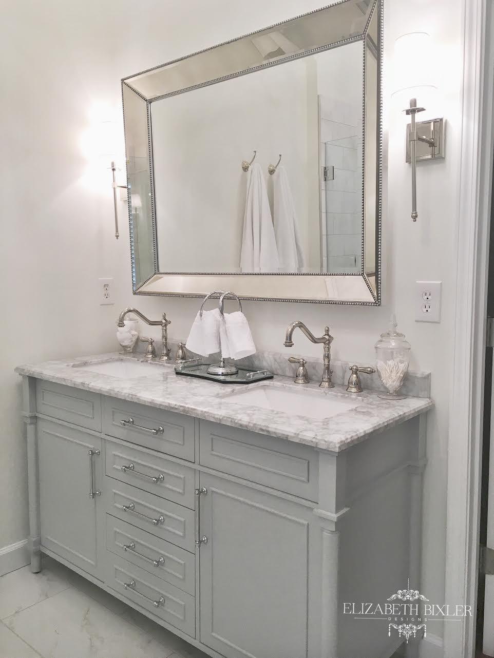White Master Bathroom Makeover -   White master bathroom, Master ...