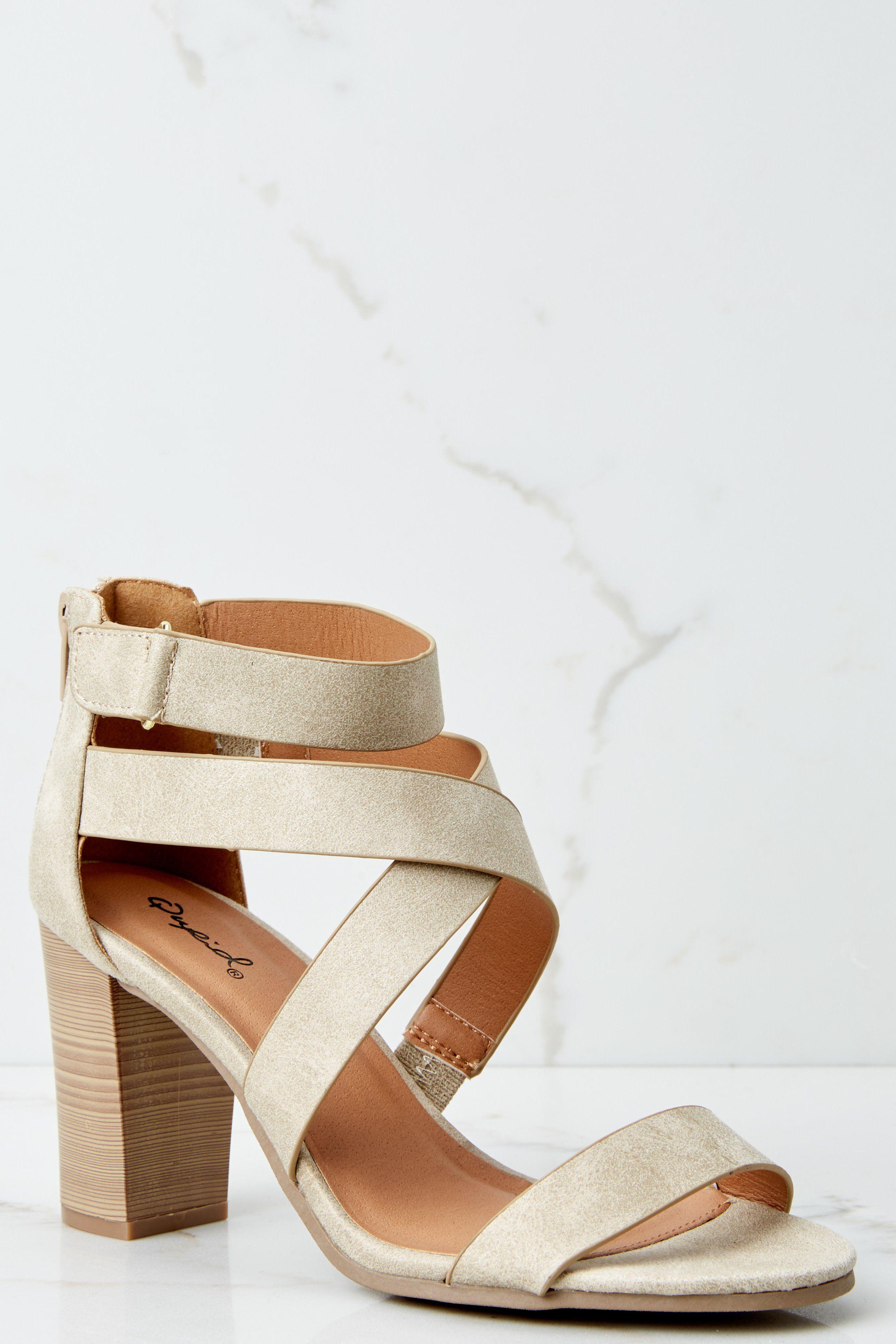 70f751b0b4c8 Trendy High Heel Sandals - Cute Ivory High Heel Sandals - High Heel Sandals  -  32.00 – Red Dress Boutique