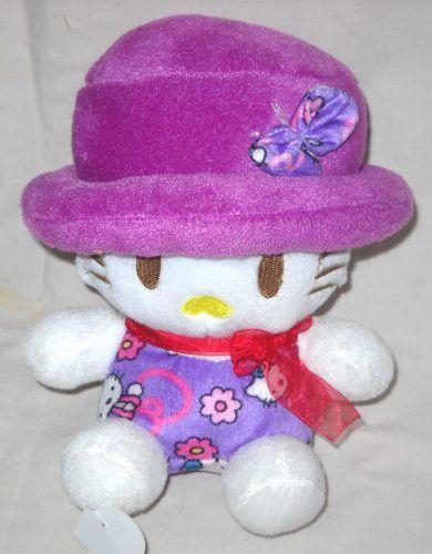 Boneka Hello Kitty Printing S 23 Cm Topi Ungu Boneka Hello Kitty