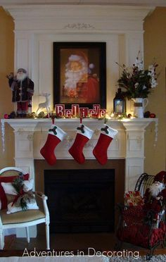 Christmas Decorating Idea For Church | Holiday Mantel Decorating Ideas