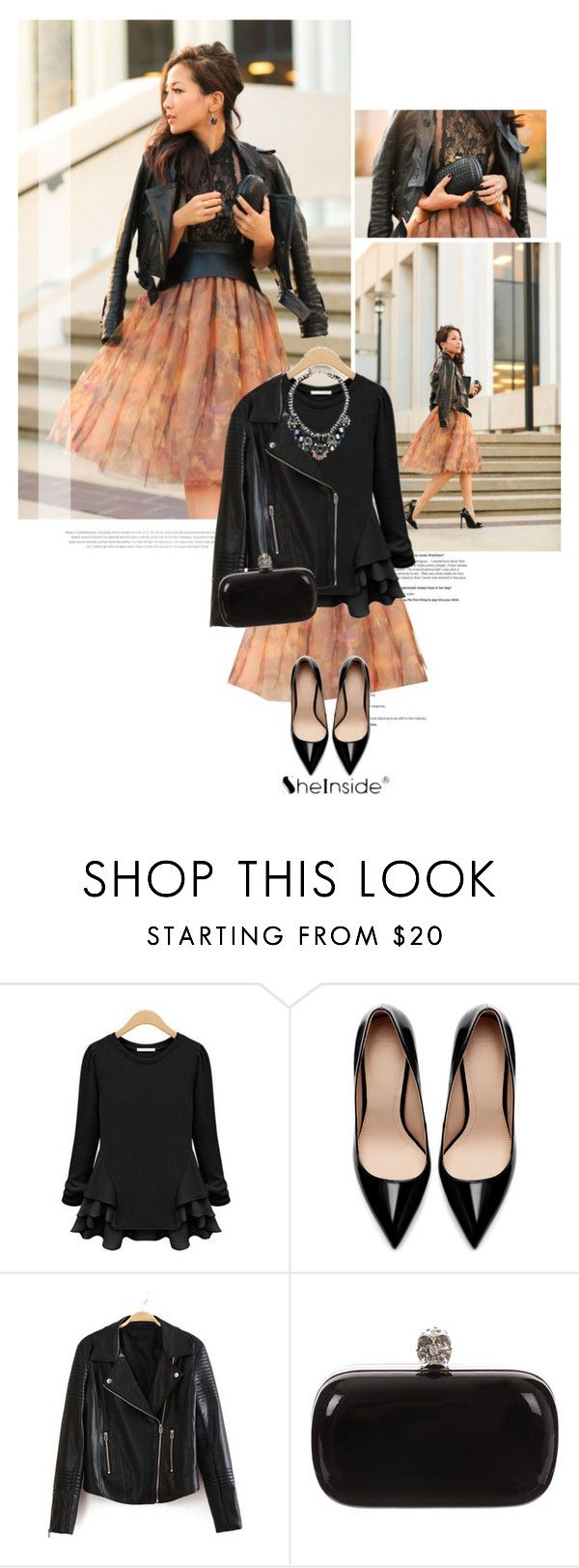 """""""Untitled #1125"""" by kaliam ❤ liked on Polyvore featuring Zara, Alexander McQueen and Shourouk"""