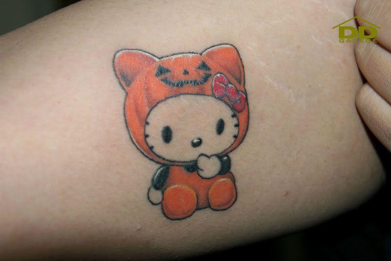 halloween cat tattoo - Google Search