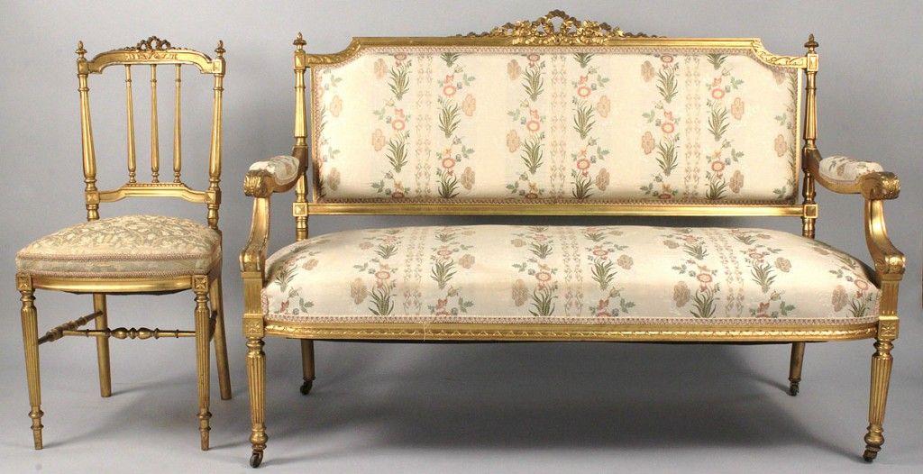 Lot 330 Louis Xvi Style Sofa Chair