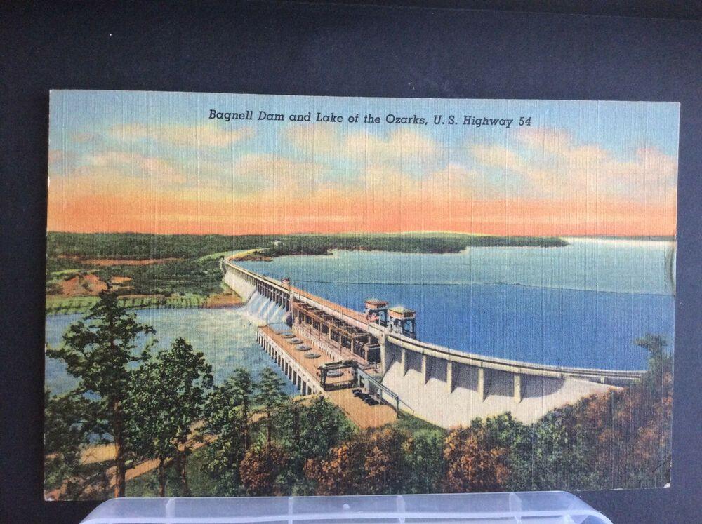 Bagnell Dam Lake Ozarks Osage Beach Us Highway 54 Lakeside Mo Vtg