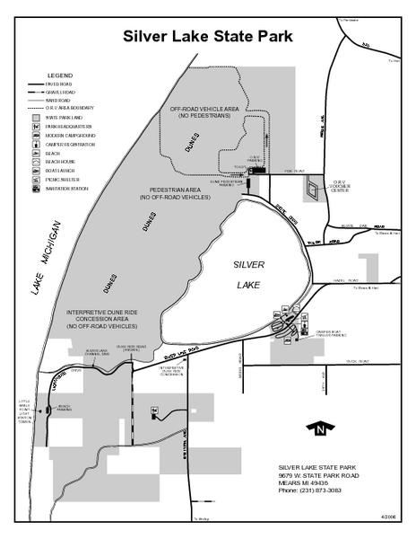 silver lake michigan map Silver Lake State Park Michigan Site Map Silver Lake State silver lake michigan map