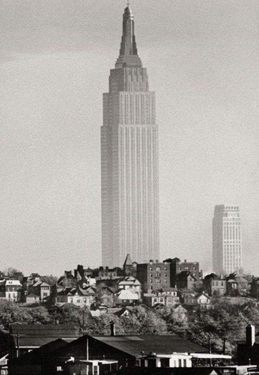 Empire State Building In 1941 Picture Taken From Union City Nj