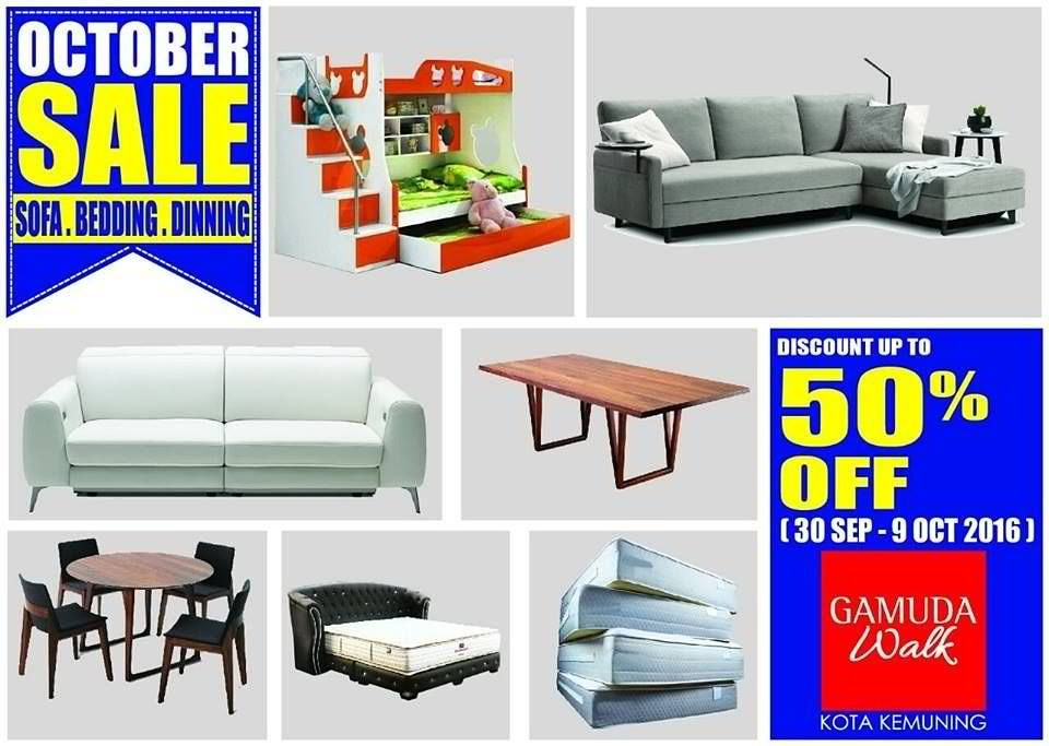 Gamuda Walk Malaysia are having their Furniture October Sale now  Enjoy  Special Deals with Discounts up to off on Home Furniture Items and many  more. 30 Sep 9 Oct 2016  Gamuda Walk Furniture October Sale   Malaysia